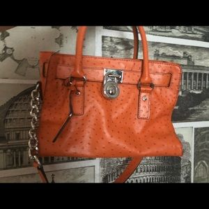 Orange ostrich Michael Kors bag